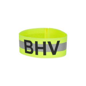 Armband Opdruk BHV Reflecterend Geel